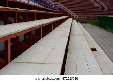 Grandstand on stadium.