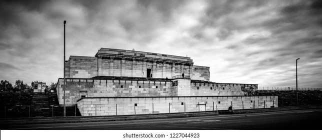 The Grandstand of the Zeppelin Field on the Nazi party rally grounds in Nuremberg, Germany.