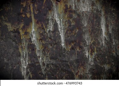 Grange looking metal background with rust and paint