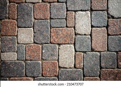 Granite blocks in the walkway
