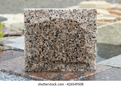 granite facing stone abstract form with cleavage