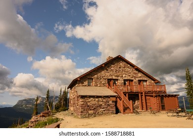 Granite Park Chalet On Cloudy Summer Day