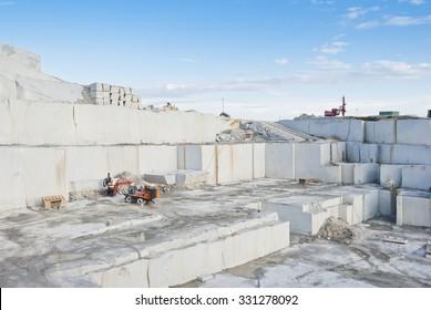 granite quarry in the community of Madrid, Spain