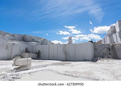 granite quarry in western province of Madrid, Spain