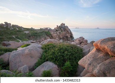 granite rock formations, on the coast of Brittany, near Perros-Guirec