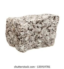 Granite rock isolated over white