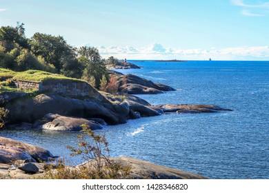 Granite rocks near Suomenlinna fortress