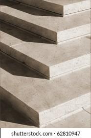 Granite steps geometry in vintage sepia