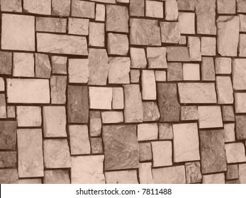 Granite stone in detailed texture(Sepia)