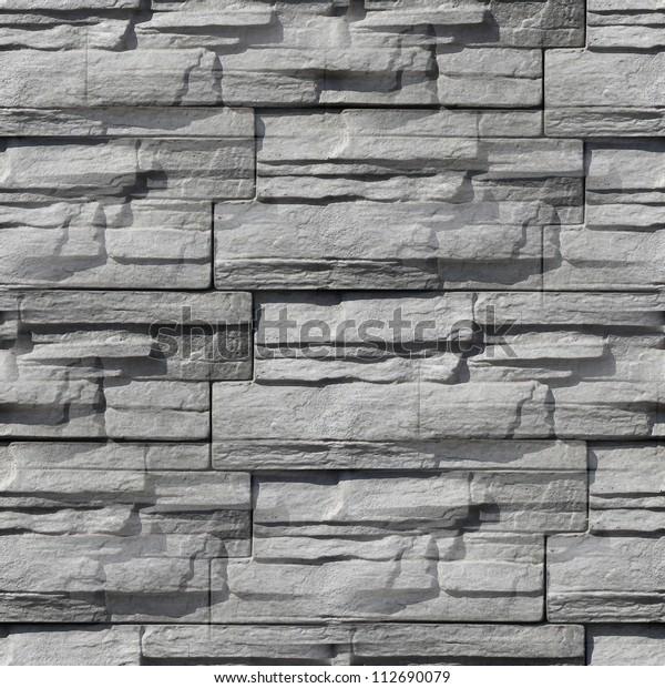 . Granite Stone Gray Decorative Brick Wall Stock Photo  Edit Now