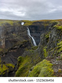 Granni, the beautiful Waterfall in Fossá River in Iceland next to Haifoss