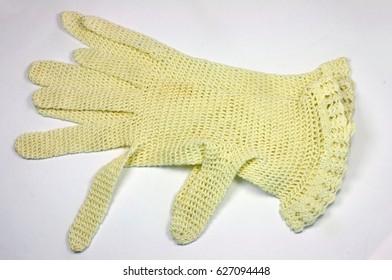 Grannie's crocheted summer gloves