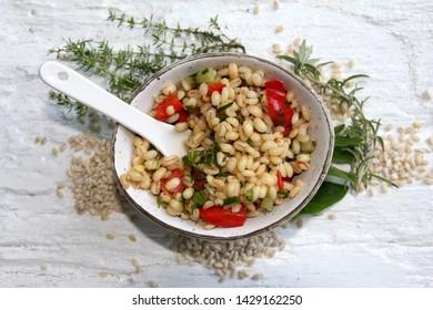 from granny homemade barley salad