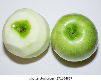 Granny Smith apples are light green in colour. They are commonly used in pie baking.