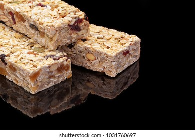 Granola bar with fruits and nuts