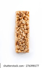 Granola Bar Isolated on White Background with Clipping Path