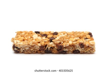 Granola bar isolated on a white background