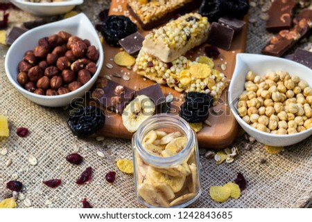 Granola Bars Healthy Nuts Dried Fruits Stock Photo (Edit Now