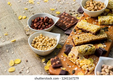 Granola Bars and mixed nuts