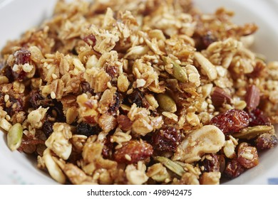 Granola in a bowl, ready for some milk