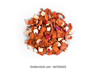 Granola Cereal portion with Apple and Cinnamon