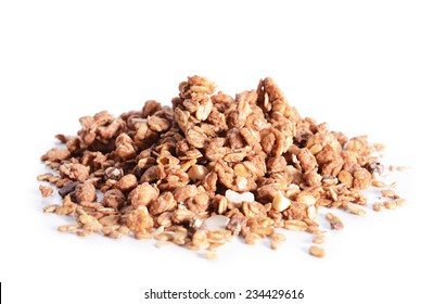 Granola isolated on white