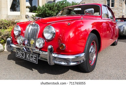 GRANTOWN ON SPEY, SCOTLAND - September 3 2017: Classic Jaguar Mark 2 at a vintage rally