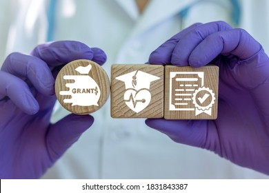 Grants Medical Concept. Medicine Innovation Financial Grant Investment.