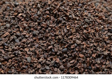 Granules of delicious chocolate