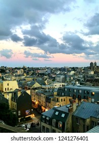 GRANVILLE, FRANCE - 26 OCTOBER, 2018: cityscape of beautiful Normandy city Granville