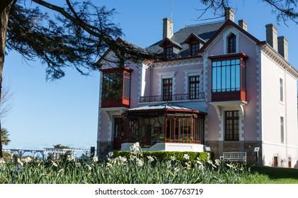 Granville, France - APRIL 5, 2018: Family house Christian Dior Museum. Granville, France.