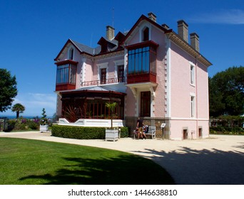 Granville, France - July 7, 2019: The Christian Dior museum, Famous designer in the world . Granville, France.