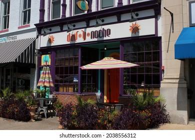 Granville Ohio August 28, 2021 Day Y Noche Mexican Restaurant in downtown Granville.