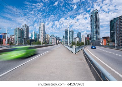 Granville Street Bridge in Vancouver BC, Canada. Looking north towards Hastings Street. Exclusive to Shutterstock.