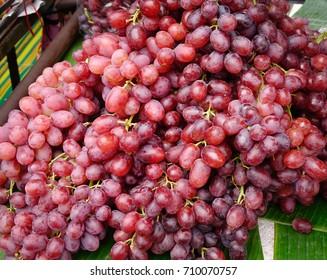 Grape fruits for sale at rural market in Bangkok, Thailand.