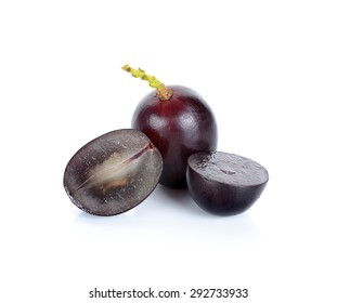 Grape isolated on the white background.