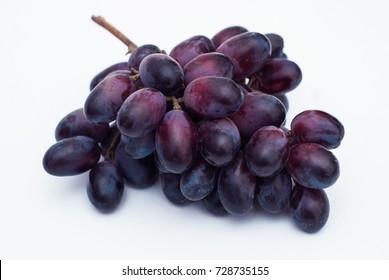 Grape isolated on white background. Autumn fruit.