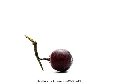 grape isolated on white. With clipping path.