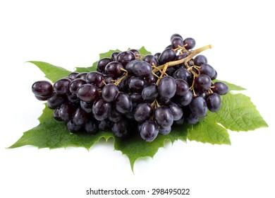 Grape on leaves