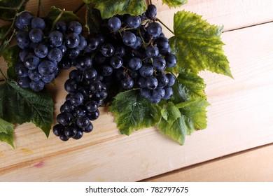 Grape on table