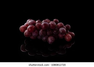 Grape oon black bacground