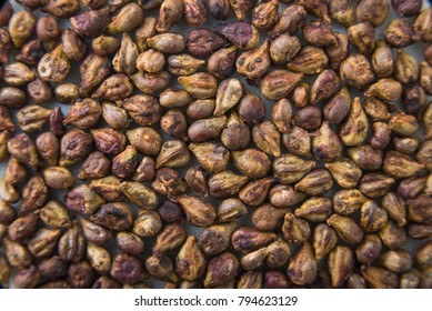 Grape seeds texture pattern macro close up