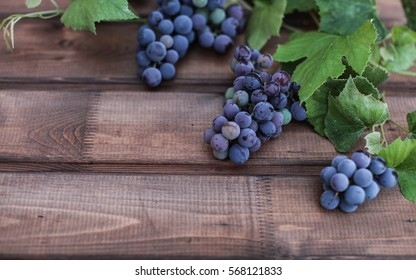 grape and wooden table