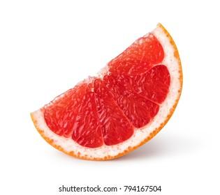 Grapefruit citrus fruit isolated on white background