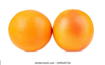 Grapefruit isolated on white background.