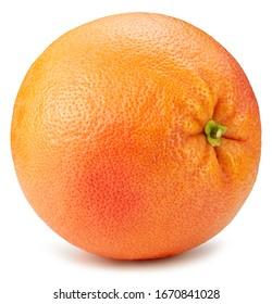 Grapefruit isolated on white background. Ripe fresh grapefruit clipping path.
