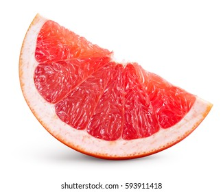 Grapefruit isolated on white background. Slice of fruit. With clipping path.