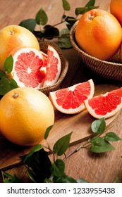 Grapefruit on a plate