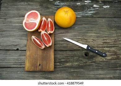 grapefruit on table