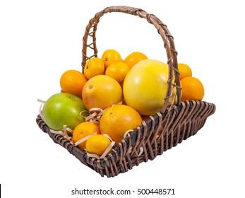 Grapefruit Oranges Tangerines Fruits Basket